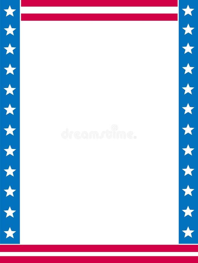 Patriottische grens/hoek stock illustratie