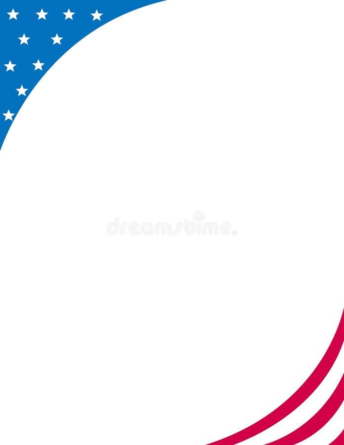 Patriottische grens/hoek vector illustratie