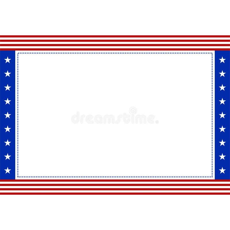 Patriottische grens van de voorraad de vector Amerikaanse vlag met exemplaarruimte voor stock illustratie