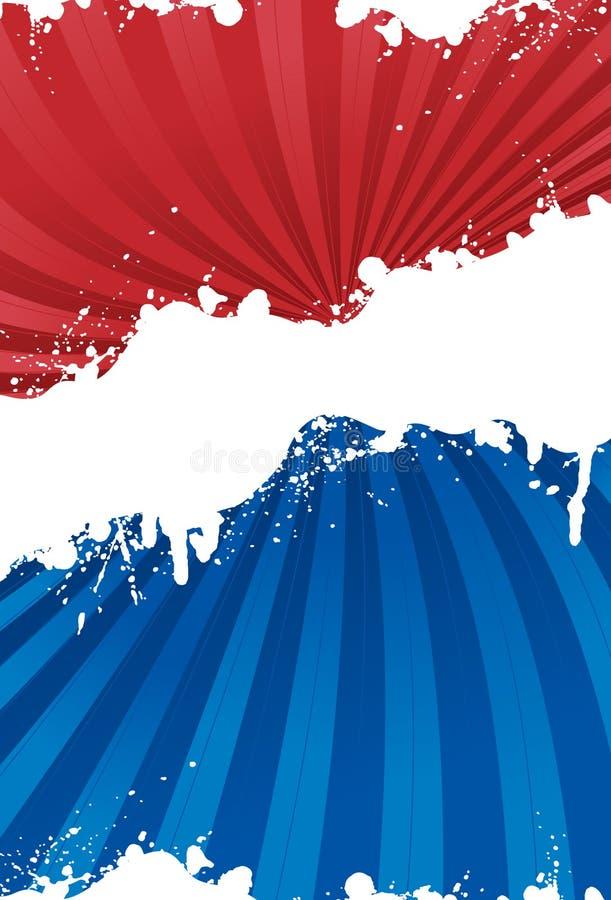 Patriottische grungeachtergrond royalty-vrije illustratie