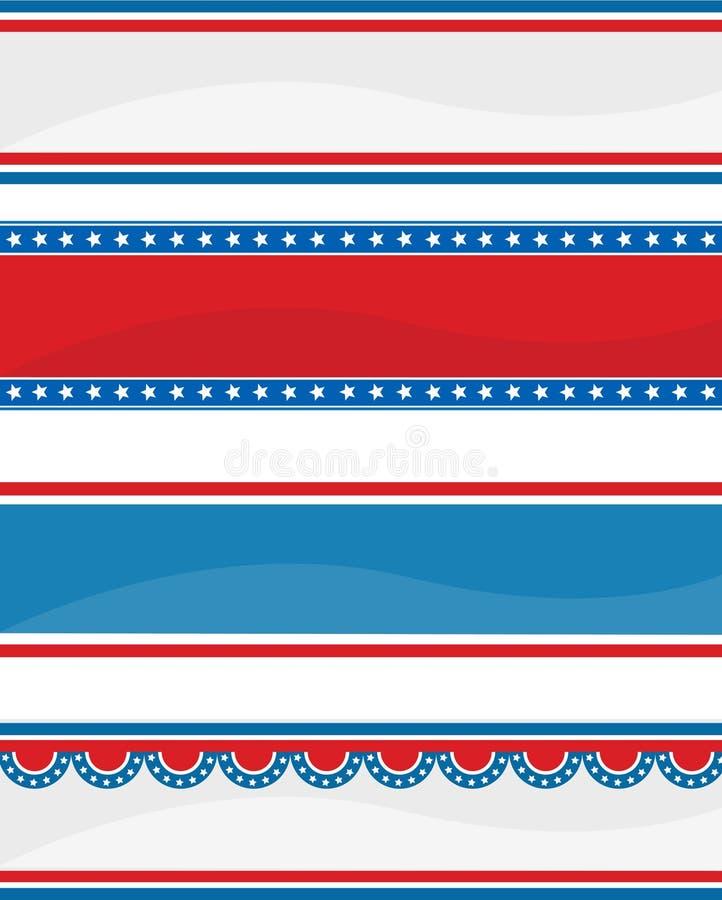 Patriottische kopbal/banner vector illustratie