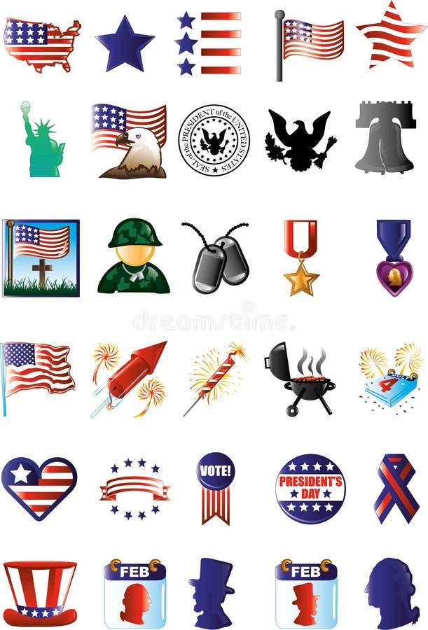 Patriottische Pictogrammen vector illustratie