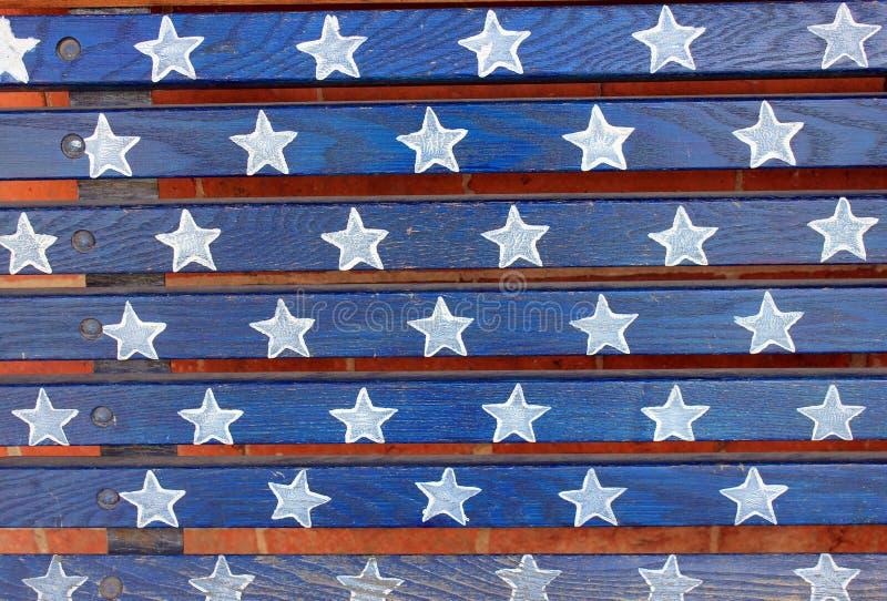 Patriottische sterren en strepen stock fotografie