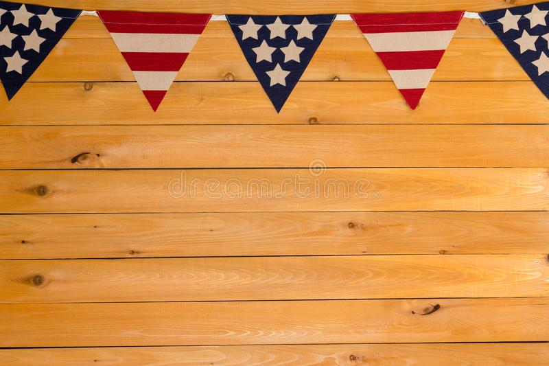 Patriottische Sterren en Strepen Amerikaanse bunting royalty-vrije stock fotografie