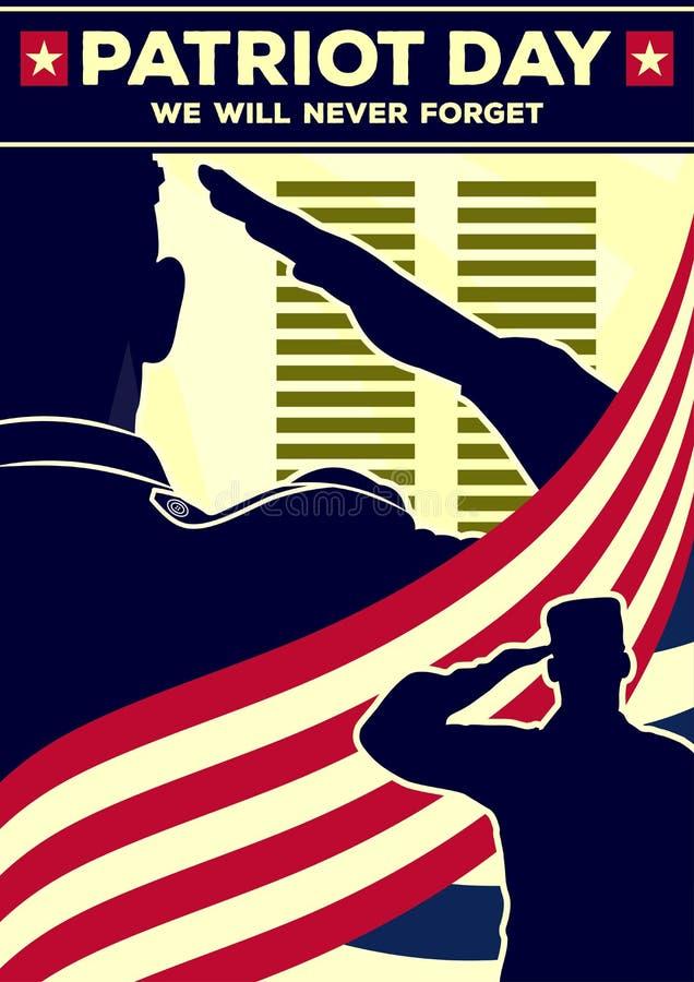 Patrioty dnia plakata szablon r?wnie? zwr?ci? corel ilustracji wektora ilustracji