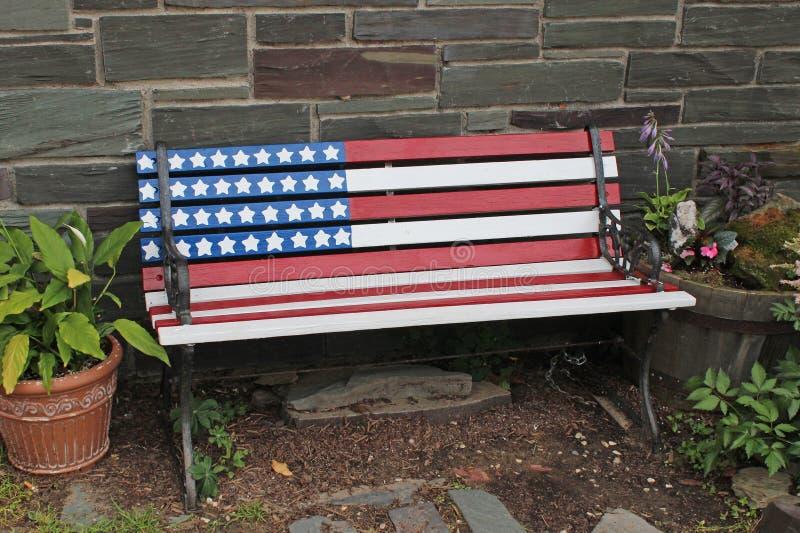 Patriotyczna ławka obraz royalty free