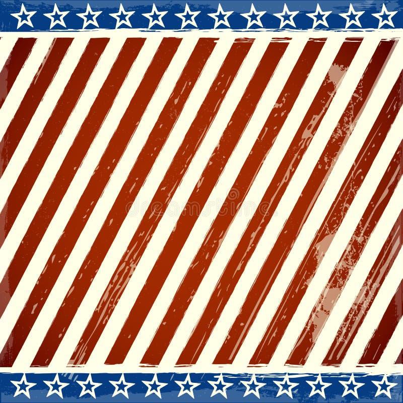 Patriotyczne gwiazdy i lampasa tło z grunge elementami ilustracja wektor