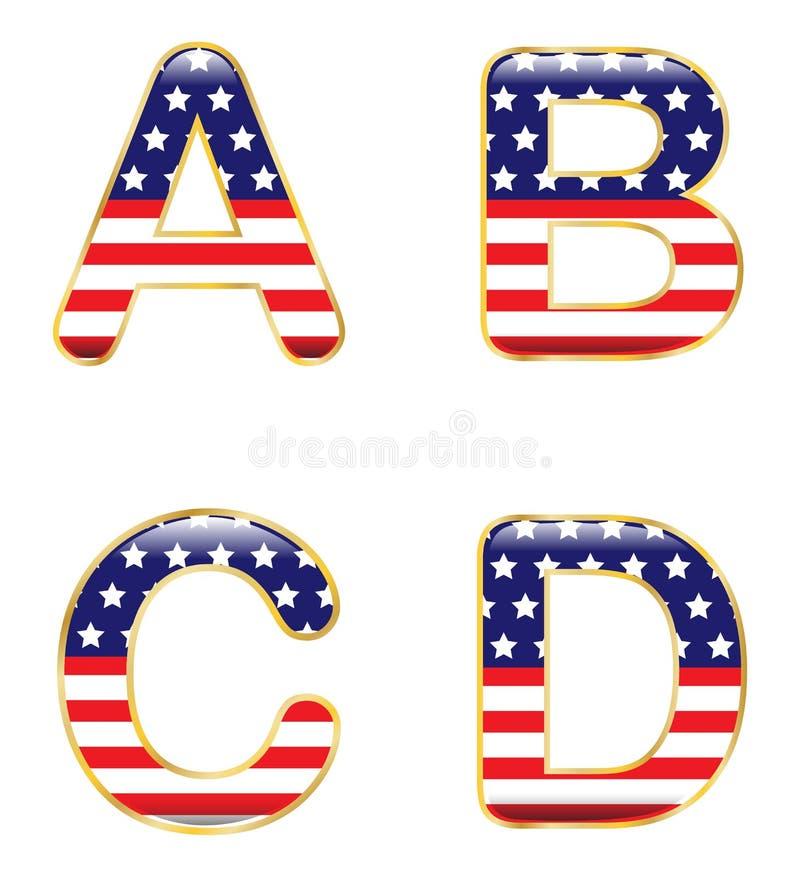 Patriotyczny ABCD ilustracja wektor