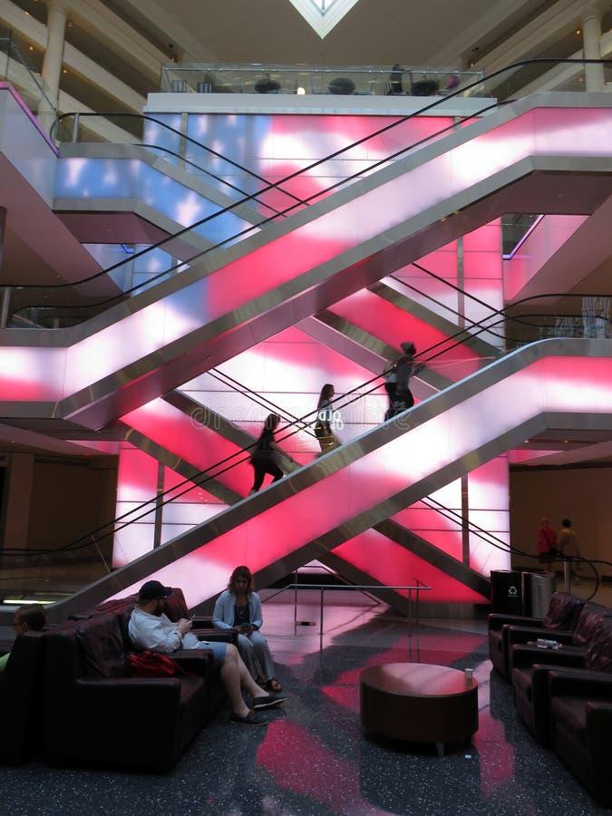 Patriotyczny centrum handlowego światła pokaz obrazy royalty free