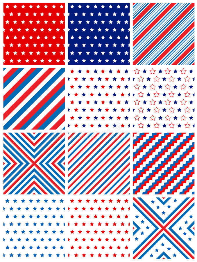 patriotyczny deseniowy bezszwowy ilustracji