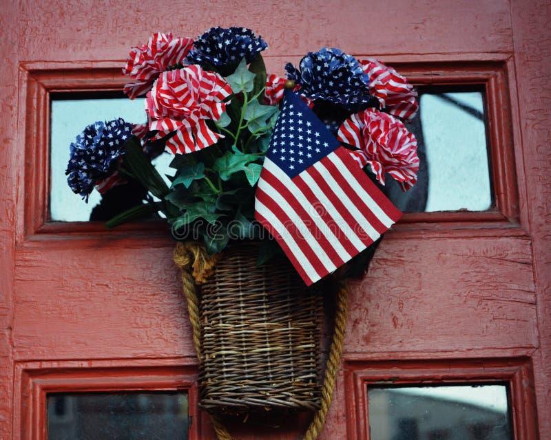 Patriotyczny drzwi zdjęcie stock