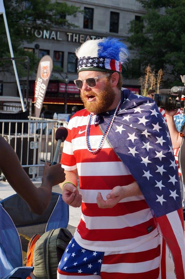 Patriotyczny fan zdjęcia stock