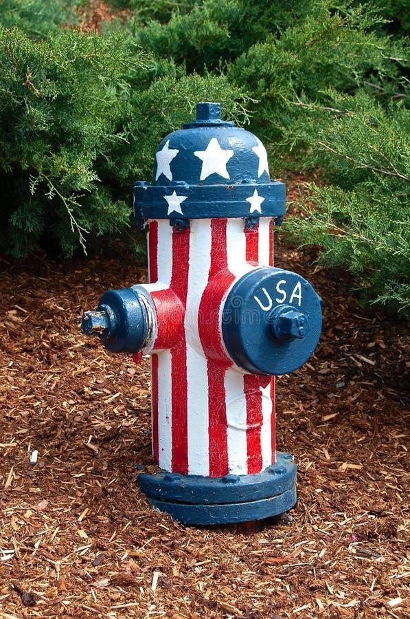 patriotyczny hydrant fotografia stock