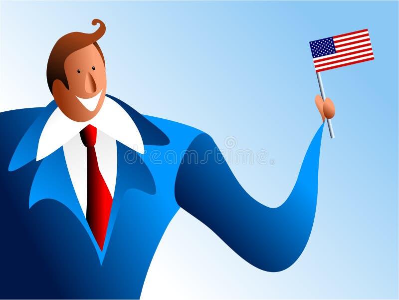 patriotyczny interes royalty ilustracja
