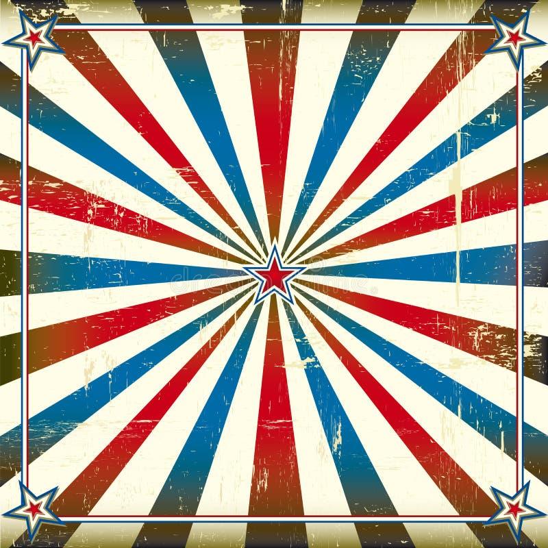 Patriotyczny kwadratowy tło ilustracja wektor