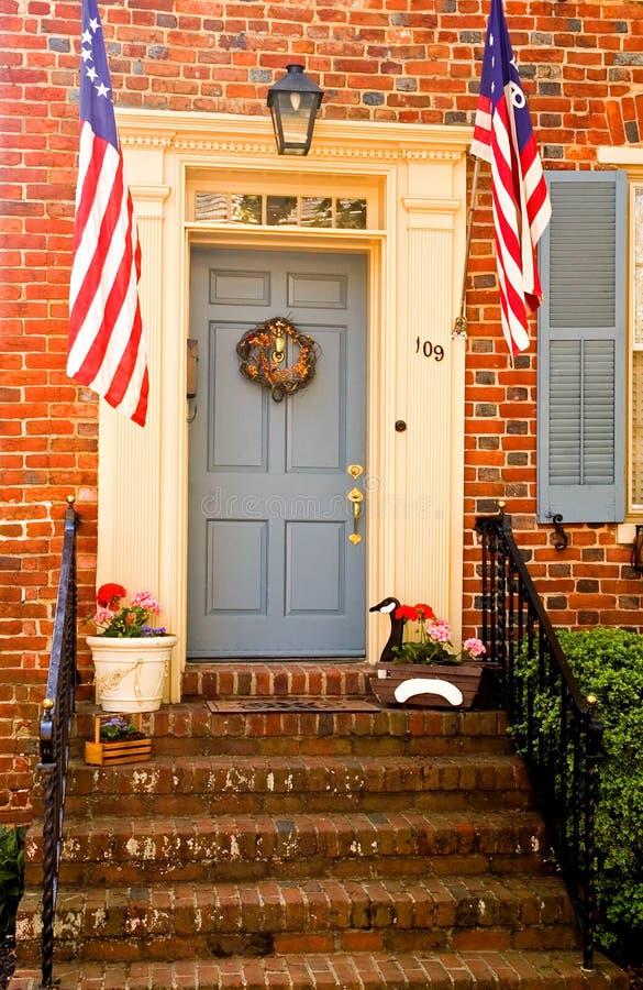 patriotyczny pionowe drzwi obrazy stock