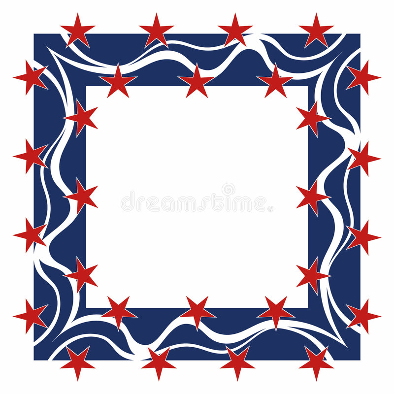 Download Patriotyczny ramowy square ilustracji. Ilustracja złożonej z gwiazdy - 140695