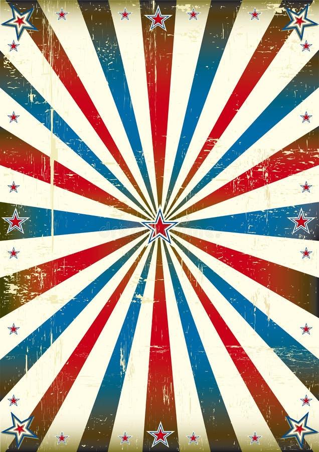 Patriotyczny sunbeam rocznika tło royalty ilustracja
