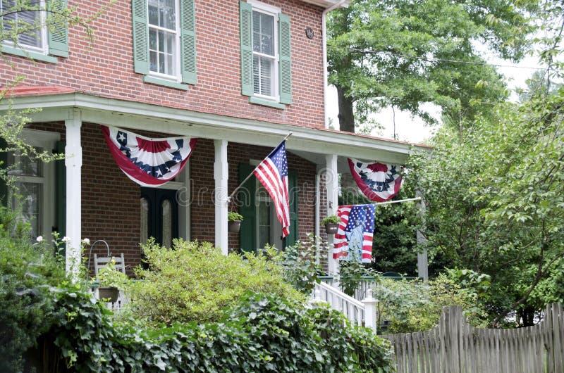 patriotyczny w domu zdjęcia royalty free