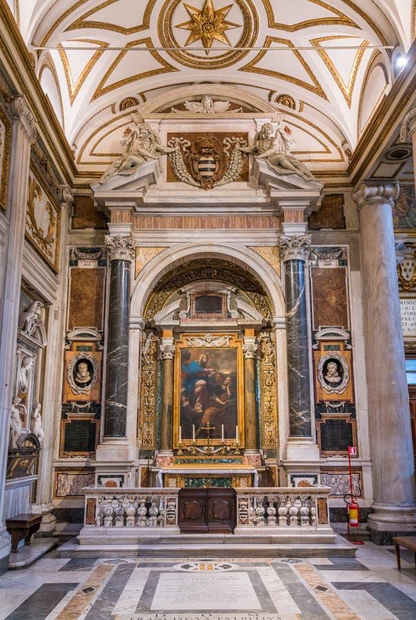 Patrizi kapell i basilikan av Santa Maria Maggiore i Rome, Italien arkivfoton