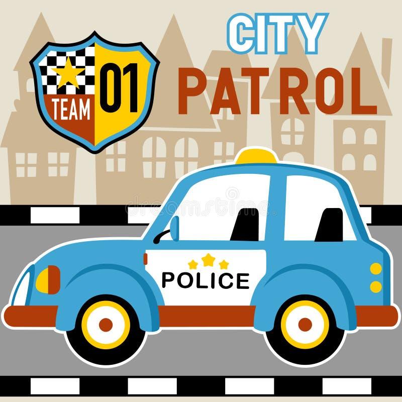 Patrol car stock illustration