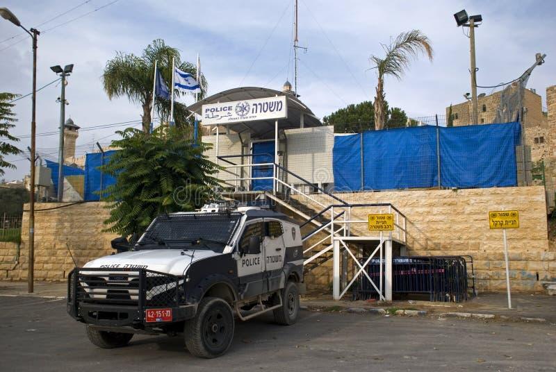 Patrolcar israélien, Hebron, Palestine image stock
