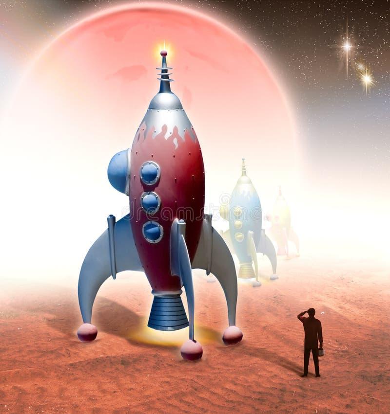 patrolowa przestrzeni ilustracja wektor