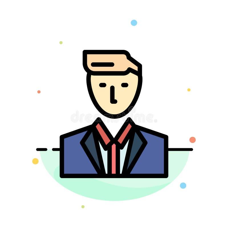 Patron, CEO, chef, chef, calibre d'icône de M. Abstract Flat Color illustration de vecteur