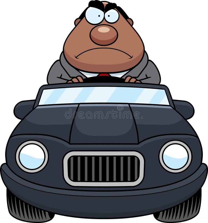 Patron Driving Angry de bande dessinée illustration libre de droits