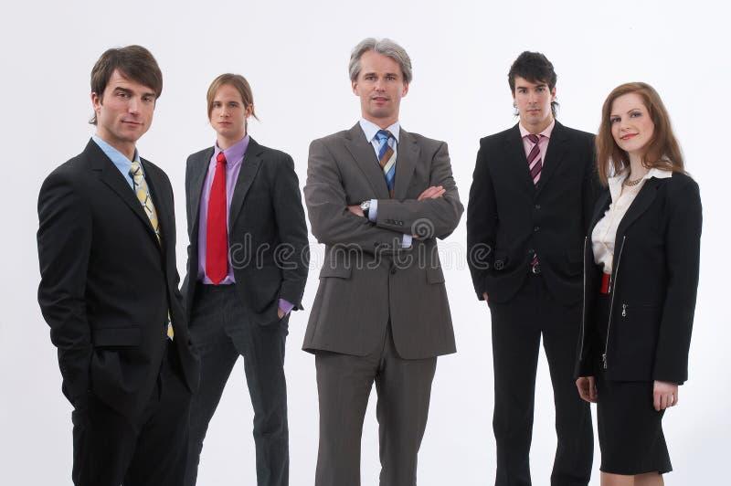 Patron et son équipe photographie stock