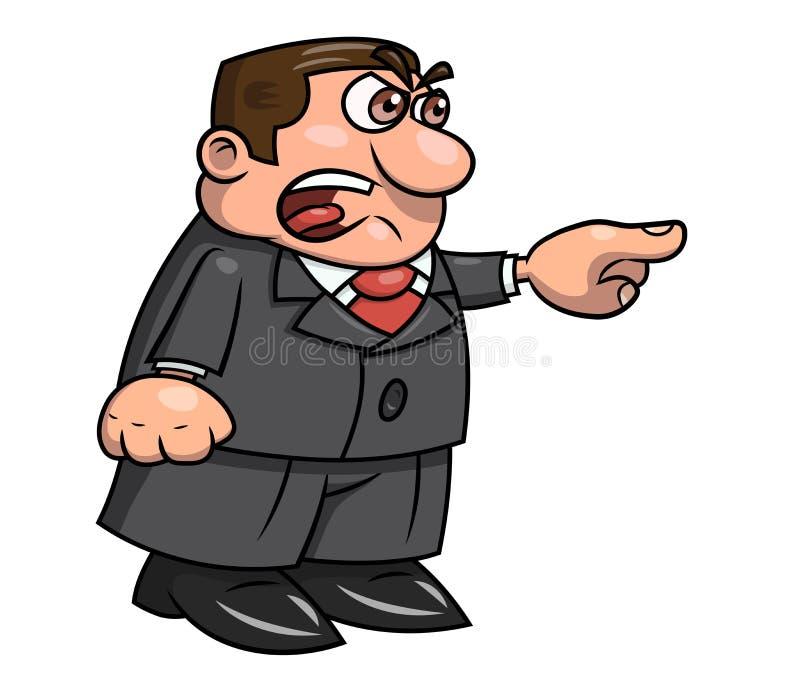 Patron fâché criant 2 illustration stock