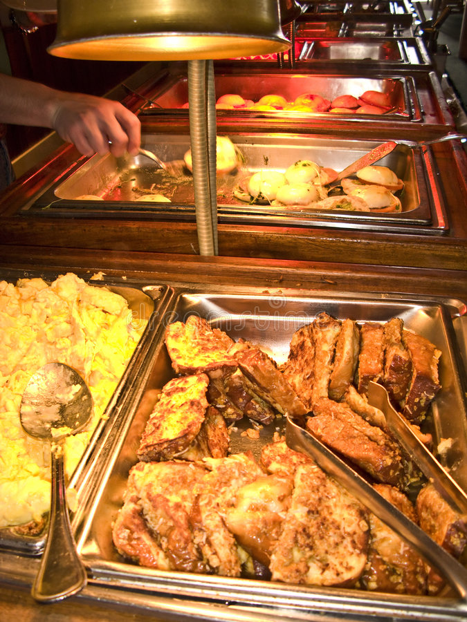 Download Patron Visiting  A Buffet Line Stock Photo - Image: 5060598