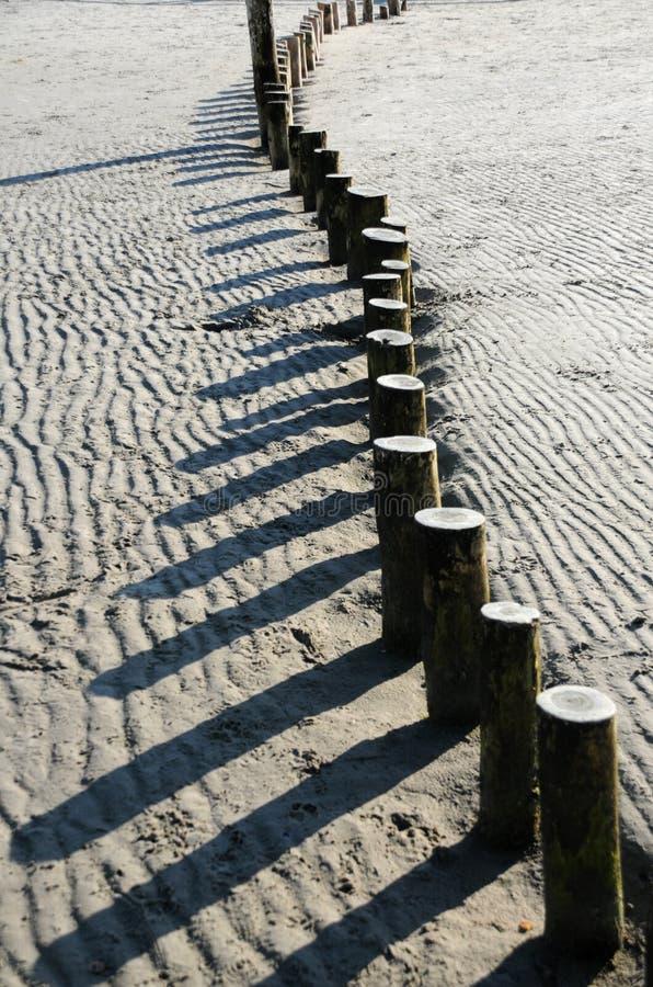 Patronen op zand royalty-vrije stock afbeeldingen