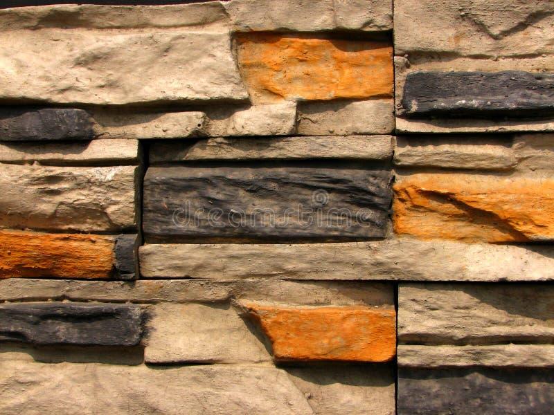 Patroon 1 van de Bakstenen muur van de steen stock afbeelding