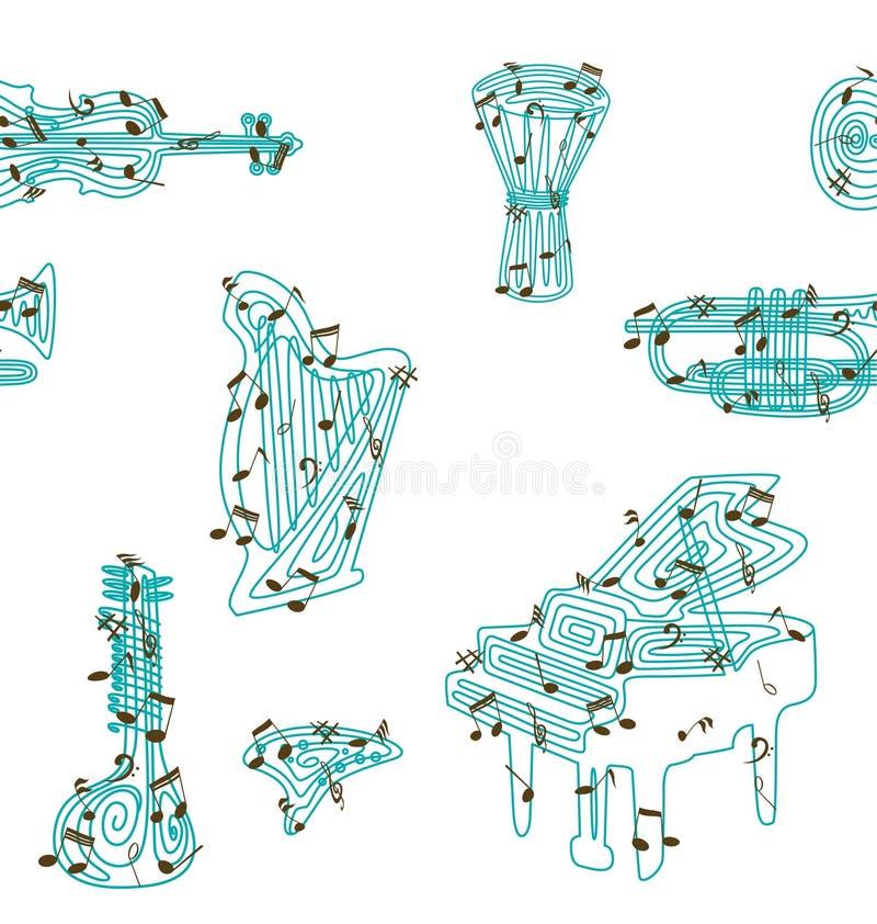 Patroon 1 van het Instrument van de muziek vector illustratie