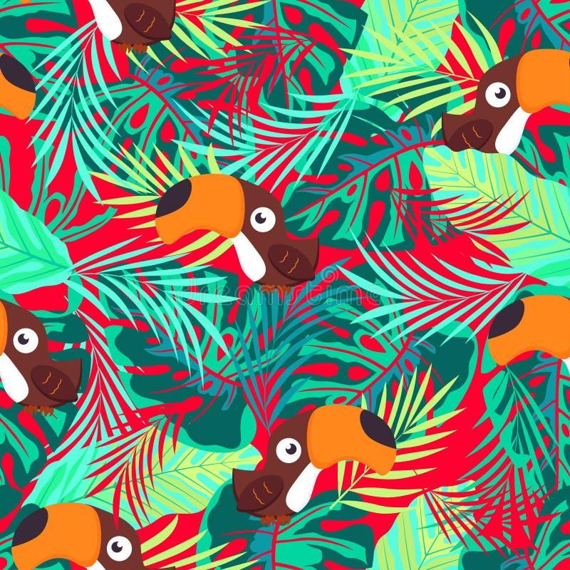 Patroon abstracte toekan royalty-vrije illustratie