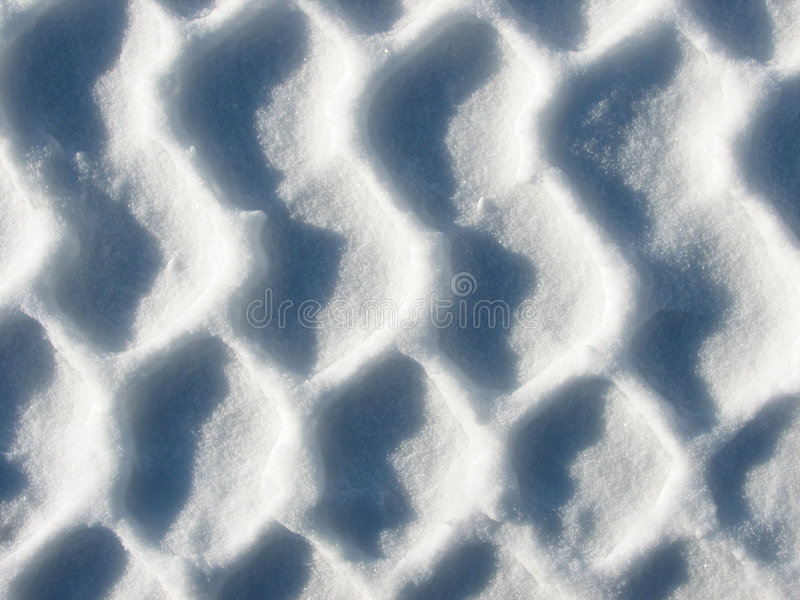 Patroon in de Sneeuw royalty-vrije stock afbeelding