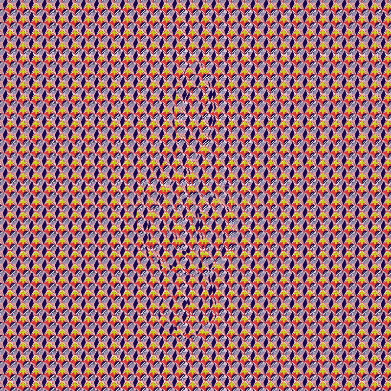 Patroon g-Sleutel Stereogram stock foto's