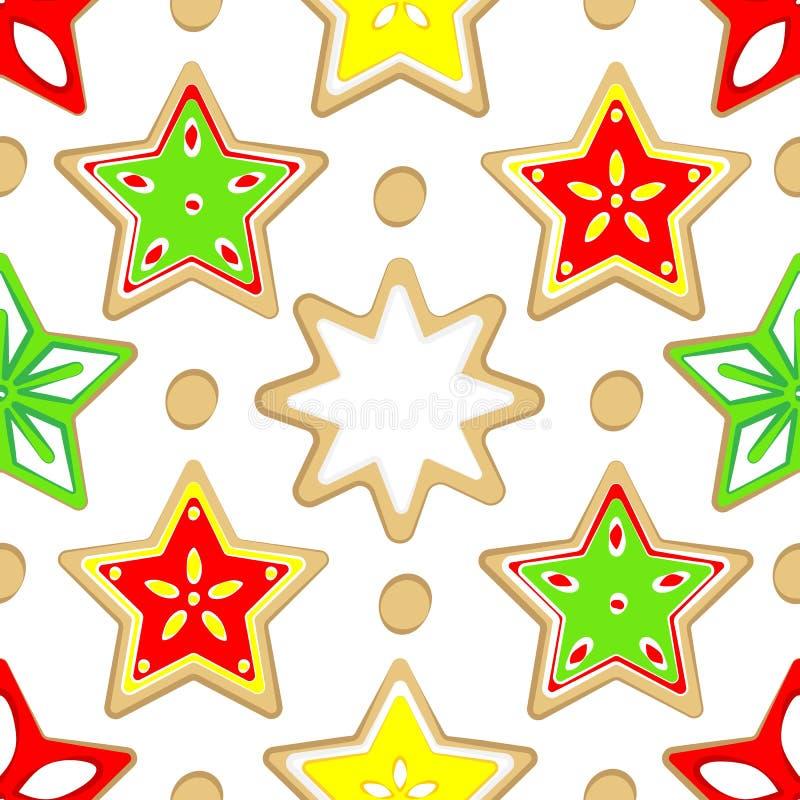 Patroon gekleurde Kerstmissnoepjes vector illustratie