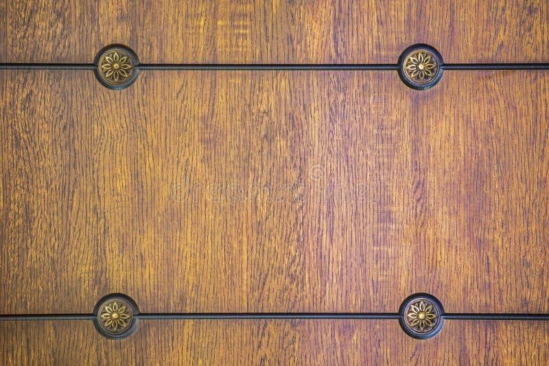 Patroon, houten paneel Oude textuur van een houten kabinet of een ladenkast royalty-vrije stock fotografie