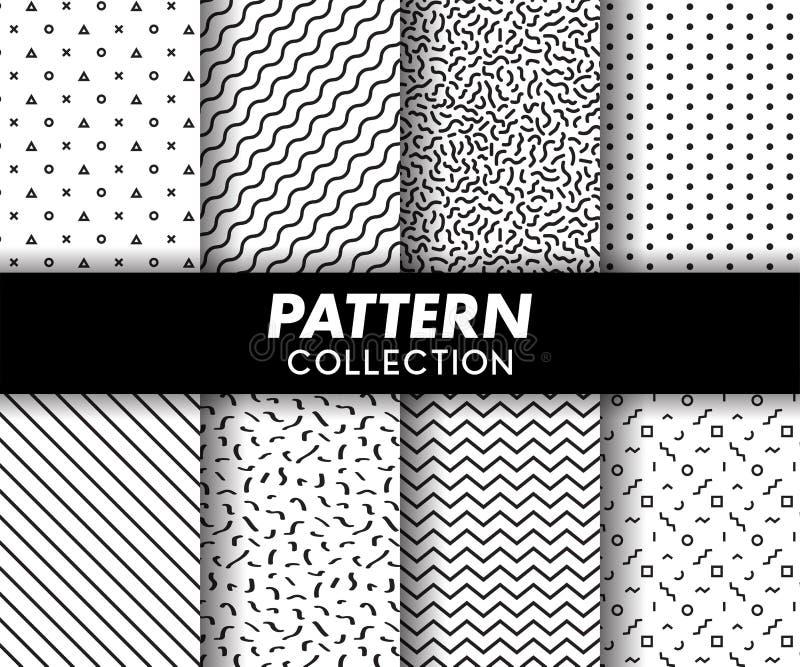 Patroon Memphis Design Seamless Collection royalty-vrije illustratie