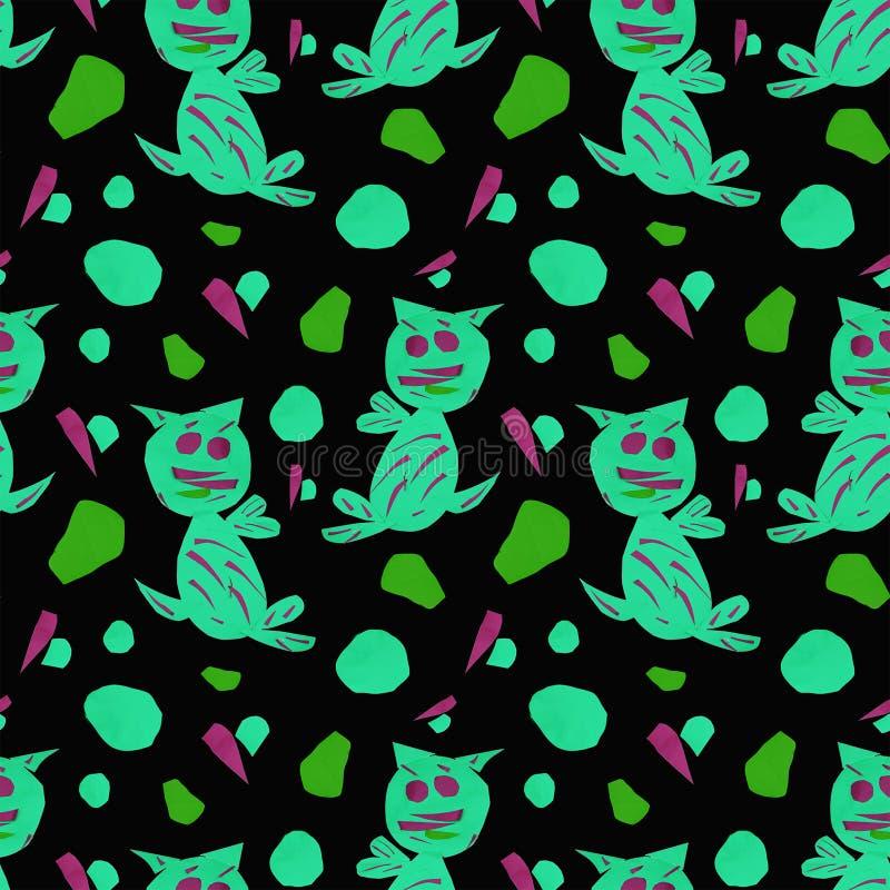 Patroon met abstracte vormen stock illustratie