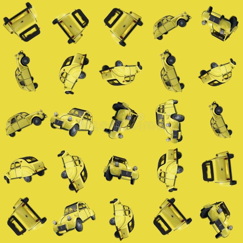 Patroon met auto wordt geïllustreerd die royalty-vrije illustratie