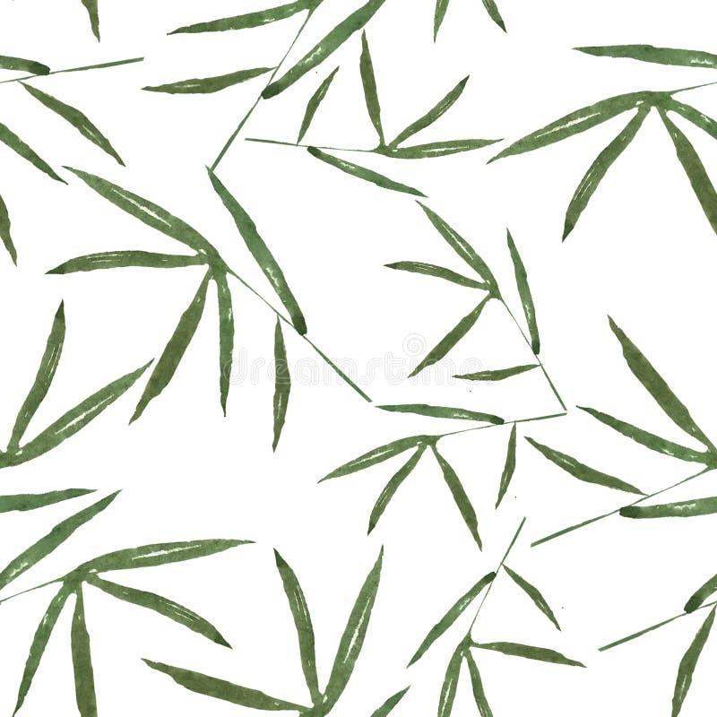 Patroon met bamboebladeren voor beste druk royalty-vrije illustratie
