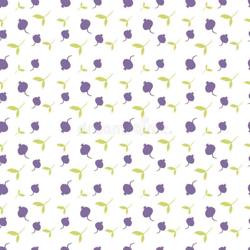 Patroon met bladeren en bessen Achtergrond met bessen stock afbeeldingen