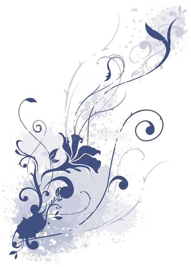 Patroon met blauwe bloem stock foto