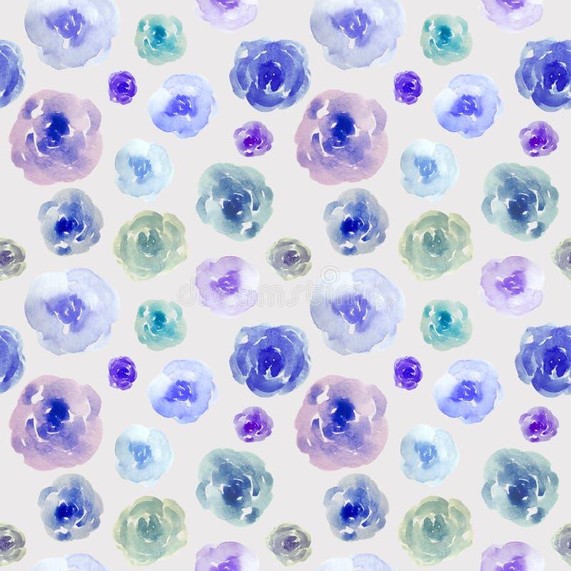 Patroon met blauwe rozen vector illustratie