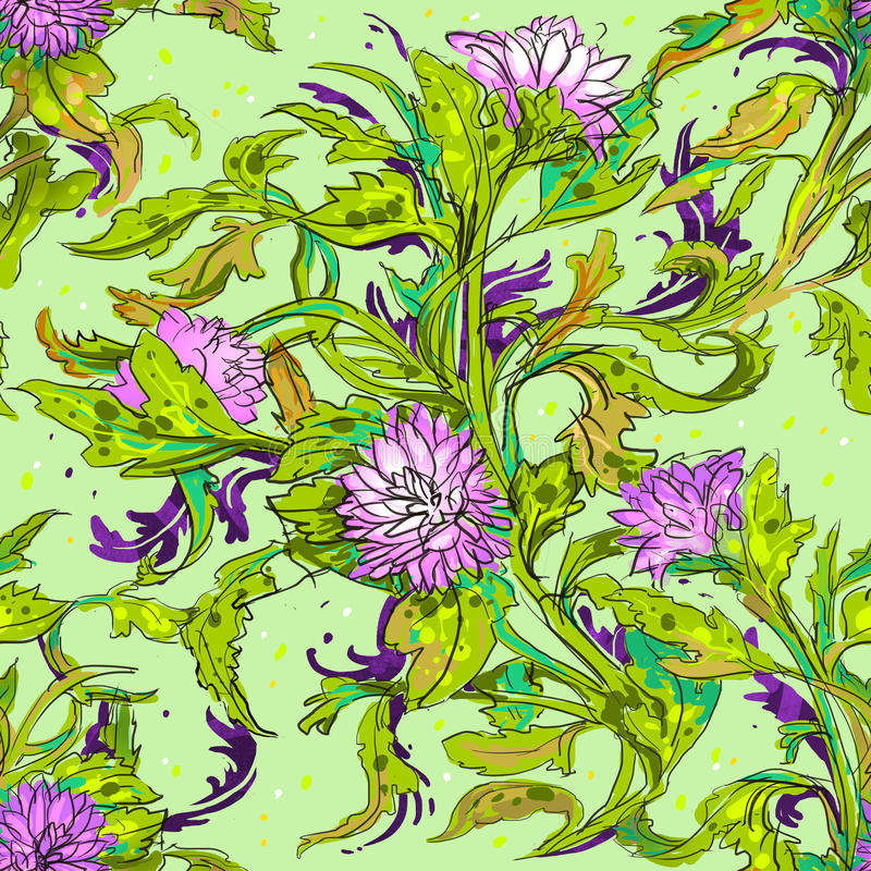 Patroon met bloemen stock afbeelding