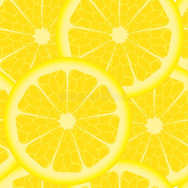 Patroon met citroenen royalty-vrije illustratie
