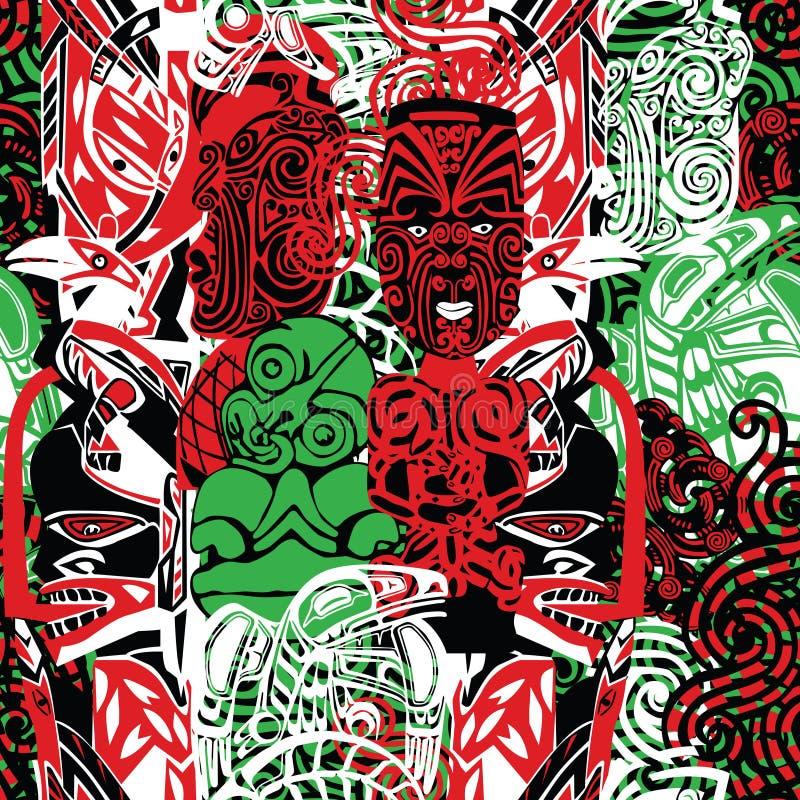 Patroon met de stijl van Maori